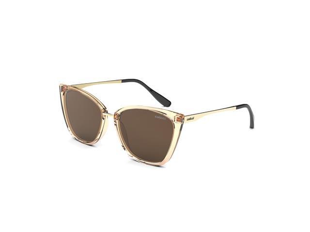 Óculos de Sol Colcci Aretha Nude Translucido Lente Marrom Degradê
