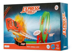 Pista de Corrida Express Wheels Single Loop 360  12pçs Multikids