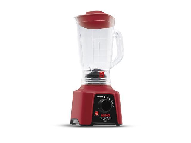 Liquidificador Arno Power Mix Limpa Fácil Vermelho 2,5 Lts 550W