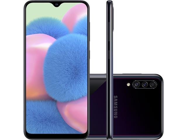 "Smartphone Samsung Galaxy A30S TV 64GB 6.4"" 4G Câmera 25+5+8MP Preto"