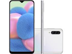 """Smartphone Samsung Galaxy A30S TV 64GB 6.4"""" 4G Câmera 25+5+8MP Branco"""