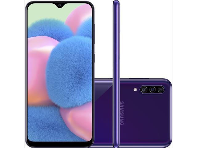 "Smartphone Samsung Galaxy A30S TV 64GB 6.4"" 4G Câmera 25+5+8MP Violeta"