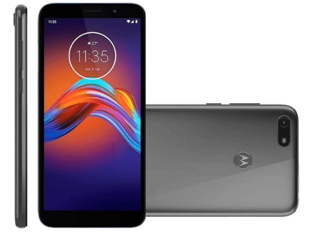 "Smartphone Motorola Moto E6 Play 32GB 2GB RAM 5.5""4G Câmera 13MP Cinza"