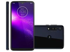 """Smartphone Motorola One Macro 64GB 6.2""""4G Câm 13+2+2MP Azul Espacial"""