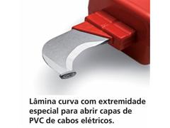 Faca Curva Tramontina Desencapadora Isolação Elétrica de 7'' - 1