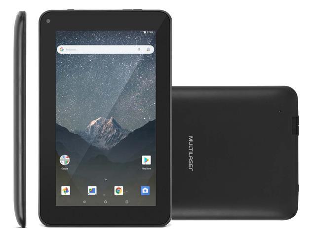 "Tablet Multilaser M7S GO 16GB Quad Core Wi-Fi 1GB RAM 1.3MP Preto 7"""