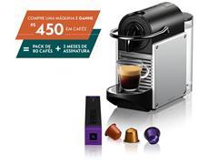 Cafeteira Nespresso Automática Pixie D61 Kit Boas Vindas Alumínio
