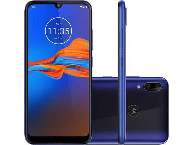 """Smartphone Motorola Moto E6 Plus 32GB 6.1""""4G Câm 13+2MP Azul Netuno"""