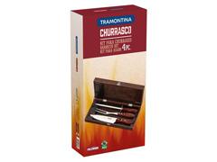 Kit para Churrasco Tramontina Polywood Vermelho com Estojo 4 Peças - 1