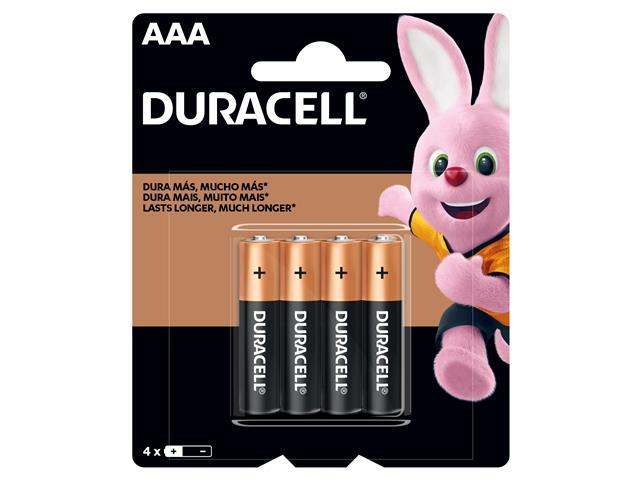 Pilha Alcalina AAA Palito Duracell com 4 Unidades