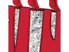 Conjunto de Facas Tramontina Skin Design Collection Vermelho 4 Peças - 1