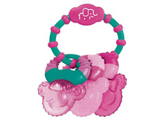 Mordedor Com Gel Cool Rings Rosa Multikids Baby