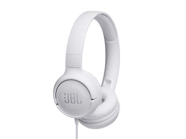Fone de Ouvido JBL T500 com Fio Branco T500WHITE