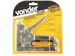 Grampeador e Pinador Vonder Manual em Chapa de Aço Cromado - 2