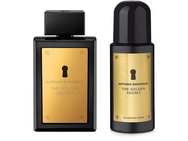 Kit Perfume Antonio Banderas The Golden Secret Masc EDT 100ml + Deo