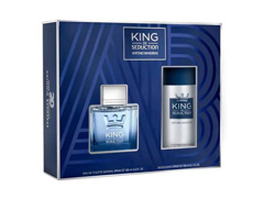 Kit Perfume Antonio Banderas King of Seduction Masc EDT 100ml + Deo - 1
