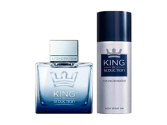 Kit Perfume Antonio Banderas King of Seduction Masc EDT 100ml + Deo - 0