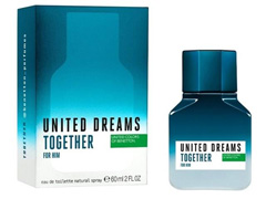 Perfume Benetton United Dreams Together for Him Masculino EDT 60ml - 1