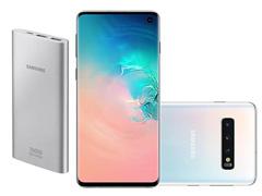 Smartphone Samsung Galaxy S10 128GB Branco + Bateria Externa 10000mAh