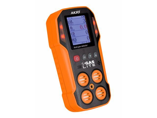Detector de 4 Gases (O2 - CO - H2S - Ex) Akso 4Gas Lite Laranja