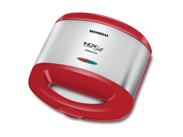 Sanduicheira Inox Grill Mondial S-19 Premium Red 800W