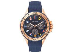 Relógio Nautica Masculino Borracha Azul NAPAUC008