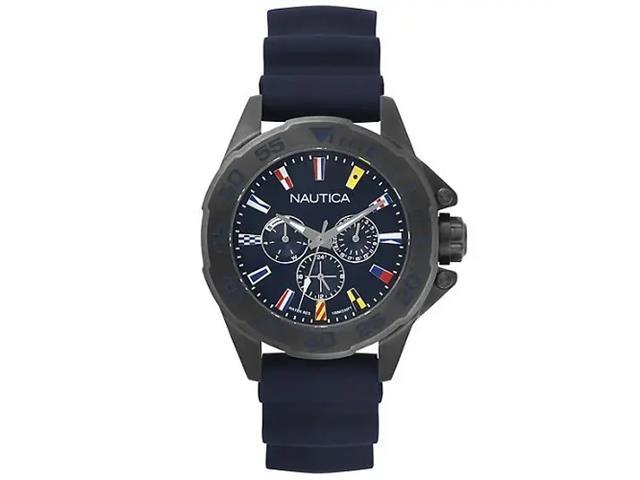 Relógio Nautica Masculino Borracha Azul NAPMIA004
