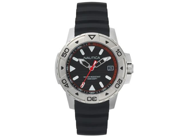 Relógio Nautica Masculino Borracha Preta NAPEGT001