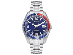 Relógio Akium Masculino Aço G7082 SS VD53 BLUE