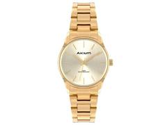 Relógio Akium Feminino Aço Dourado TML7138B
