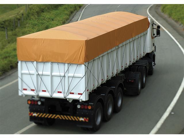 Lona de Cobertura para Cargas Locomotiva Lonil PVC Laranja 15x5M