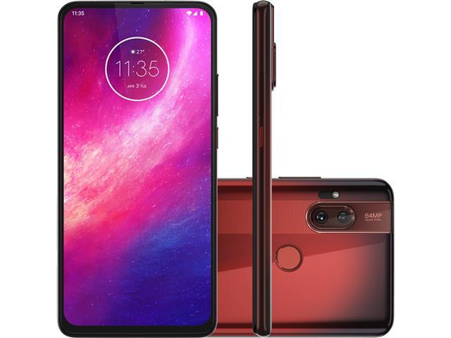 "Smartphone Motorola One Hyper 128GB 6.5""Câm 64+8MP e Selfie 32MP Âmbar"
