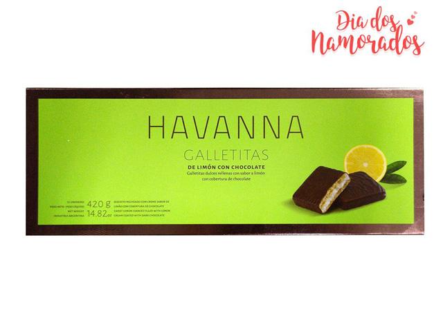 Caixa Galletita Limón com Cobertura de Chocolate Havanna - 12 Unidades