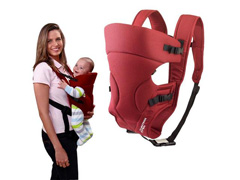 Bolsa Canguru para Bebê Multikids Baby Safe Bordô - 2