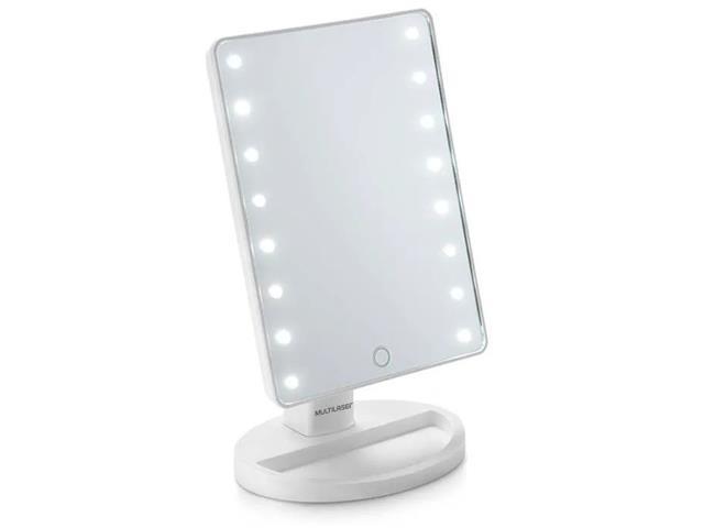 Espelho de MesaLED Multilaser á Pilhas HC174 Branco