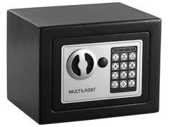 Cofre Eletrônico Multilaser 17 x 23 x 17cm OF007 Preto - 2