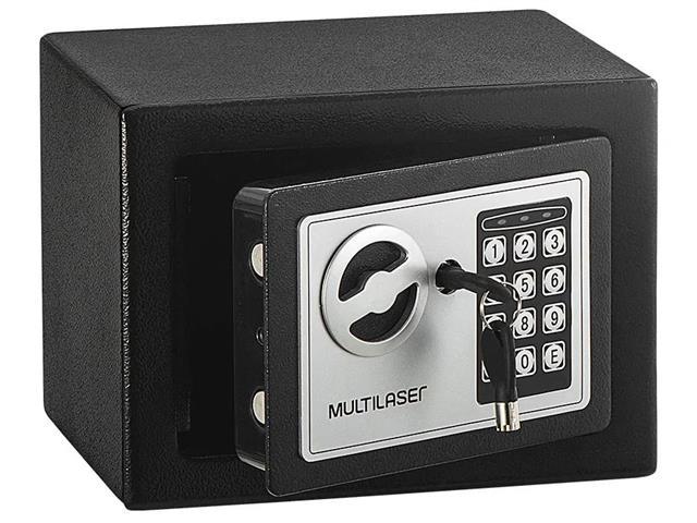 Cofre Eletrônico Multilaser 17 x 23 x 17cm OF007 Preto