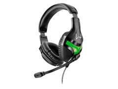 Headset Gamer Warrior Multilaser Harve Stereo PH298 Preto e Verde - 1