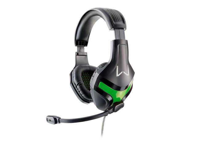 Headset Gamer Warrior Multilaser Harve Stereo PH298 Preto e Verde