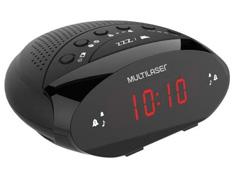Rádio Relógio Digital Multilaser SP352 Preto