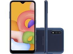 """Smartphone Samsung Galaxy A01 32GB Tela 5.7"""" Câm Dupla 13MP+2MP Azul"""
