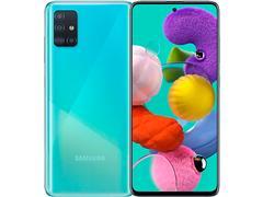 """Smartphone Samsung Galaxy A51 128GB 4G 6.5"""" Quad Cam 48+12+5+5M Azul"""