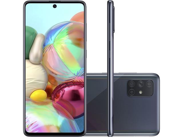 "Smartphone Samsung Galaxy A71 128GB 4G 6.7"" Quad Câm 64+12+5+5MP Preto"