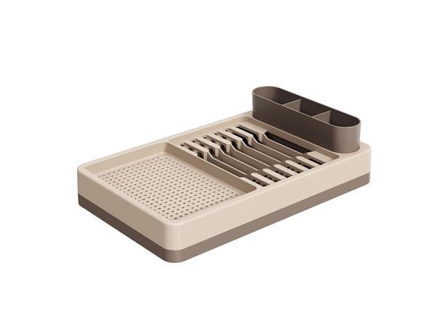 Escorredor de Louças Flat Coza Warm Gray e Light Gray 42 x 26 x 10 cm