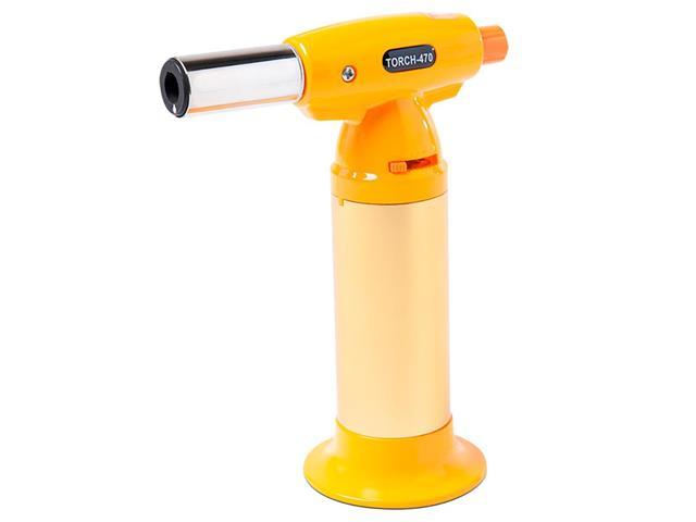 Maçarico Culinário Recarregável Brinox Glacê 15 cm Amarelo