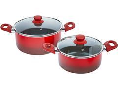 Jogo de Panela Brinox Antiaderente Ceramic Life Smart Vermelho 7 Peças - 2