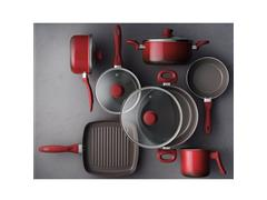 Jogo de Panela Brinox Antiaderente Ceramic Life Smart Vermelho 7 Peças - 7