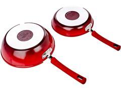 Jogo de Panelas Brinox Ceramic Life Select Vermelho Romã 5 Peças - 1