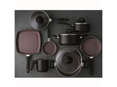 Jogo de Panelas Brinox Ceramic Life Smart Plus 8 Peças Preto - 1
