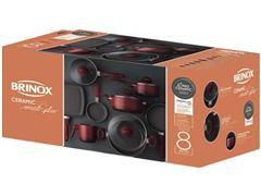 Jogo de Panelas Brinox Ceramic Life Smart Plus 8 Peças Vermelho - 1